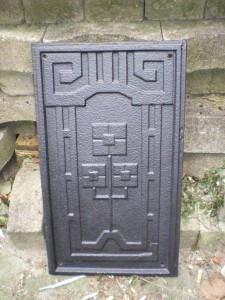 Art-Deco-Ofenplatte